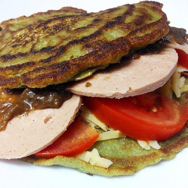 Pancakes de acelga y puerro