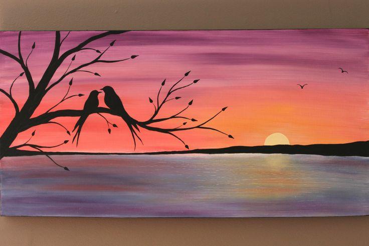 Original pintura abstracta de acrílico sobre por PicturesqueFolkart