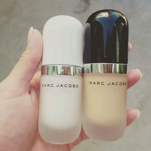 Marc Jacobs coconut primer and foundation. #makeup #beauty