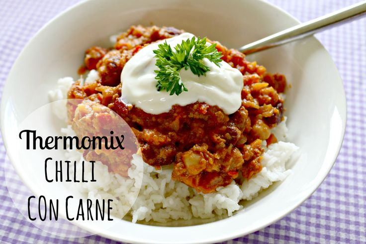 Definitely a keeper! Thermomix Chilli Con Carne recipe. Added a bit of smokey paprika, oregano + a shallot and it was amazing!