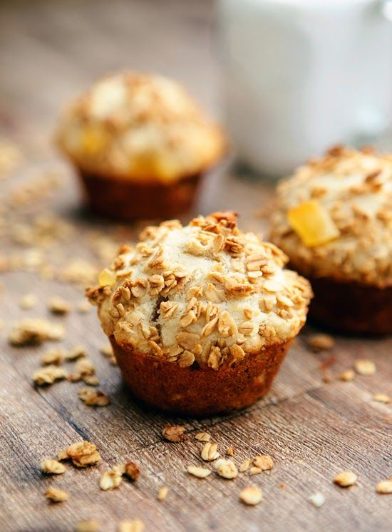 Whole Grain Banana Muffins with Granola Crumb Topping - the BEST muffins I've ever had . . . and they're healthy too!