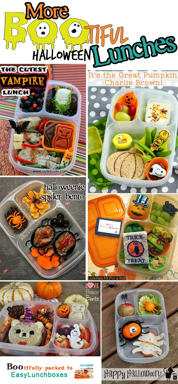 More BOOtiful #Halloween lunches │ lunch containers by EasyLunchboxes.com #easylunchboxes
