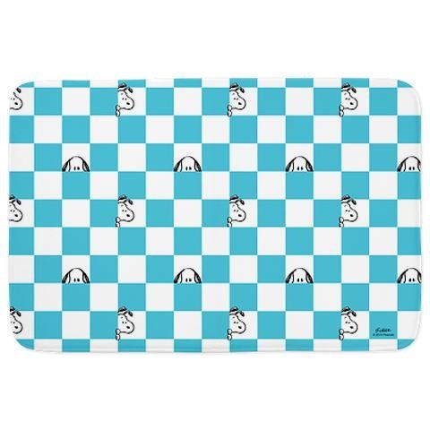Snoopy Blue And White Bathmat Blue, white, Blue, Snoopy