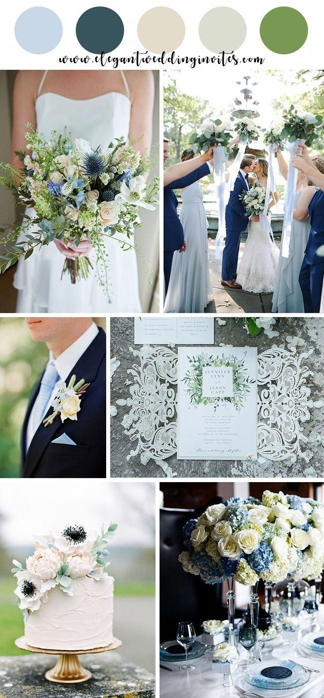 Light Blue And Navy Blue Beach Summer Wedding Colors With Images