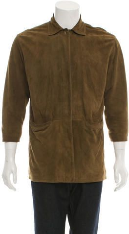 Loro Piana Suede Cashmere Lined Jacket