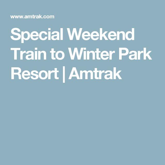 Special Weekend Train to Winter Park Resort  | Amtrak