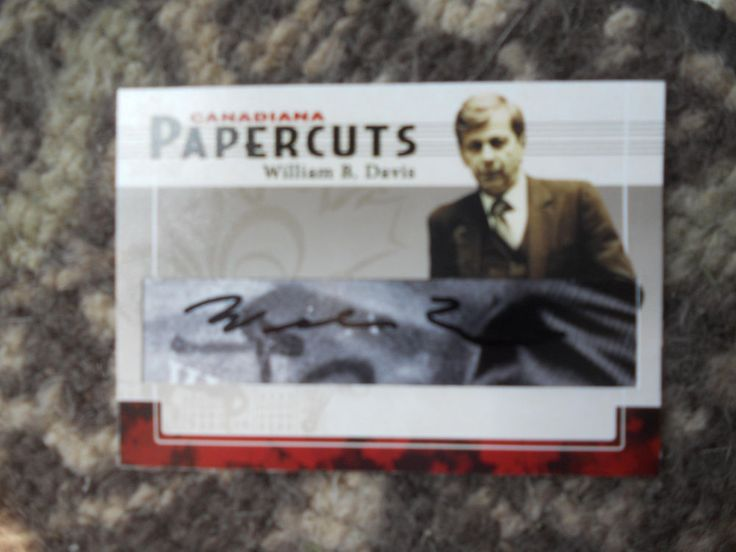 WILLIAM B DAVIS-THE X FILES SMOKING MAN-- AUTOGRAPHED SIGNED CARD
