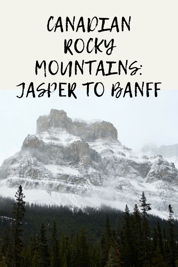 Visit amazing destinations from Jasper in the North down to Banff in the South, stopping at lakes, viewing wildlife and taking in expansive mountain views! #canada #rockymountains #banff #jasper