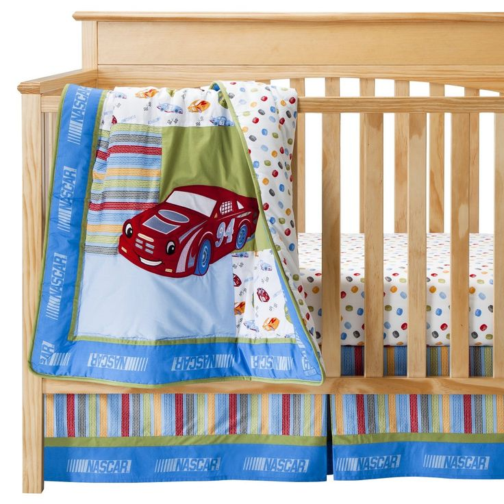 trend lab nascar crib bedding 3