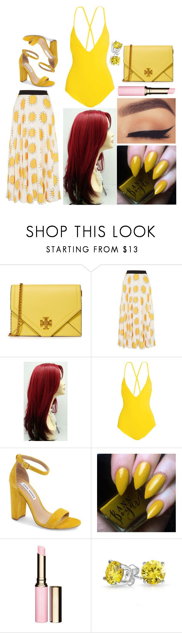 """""""Emma: August 25, 2017"""" by disneyfreaks39 ❤ liked on Polyvore featuring Tory Burch, Christopher Kane, Emma Pake, Steve Madden, Clarins and Bling Jewelry"""