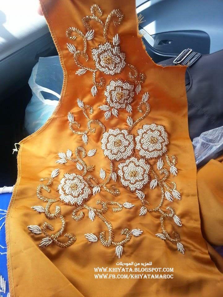 جديد الطرز الرباطي باليد منبت بالعقيق موديلات جميلة جدا - الخياطة التقليدية المغربية