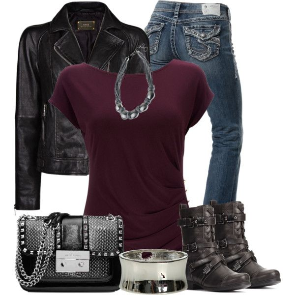 """""""Black and Purple Heavy Metal"""" by chells-style on Polyvore"""