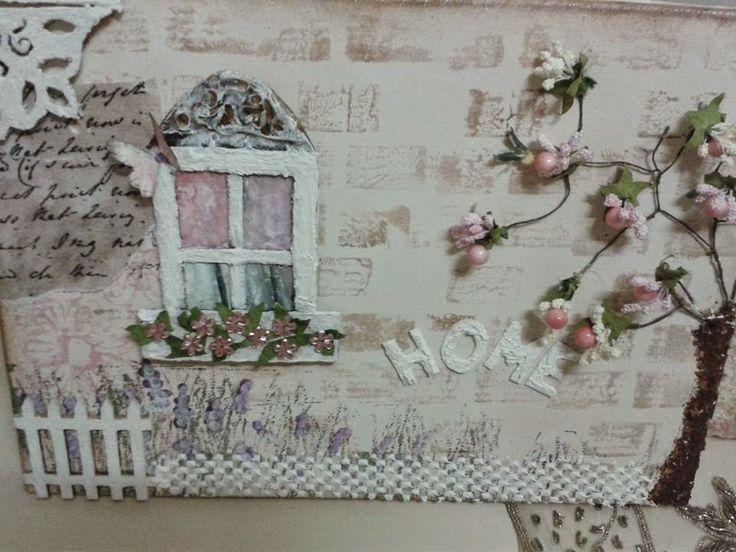 rölyef pasta tekniği ve mukavvadan yapılmış kanvas üzerine vintage tablo çalışması gibi daha pek çok değişik teknikle yapılmış el işi çalışması ve video 10marifet.org'da