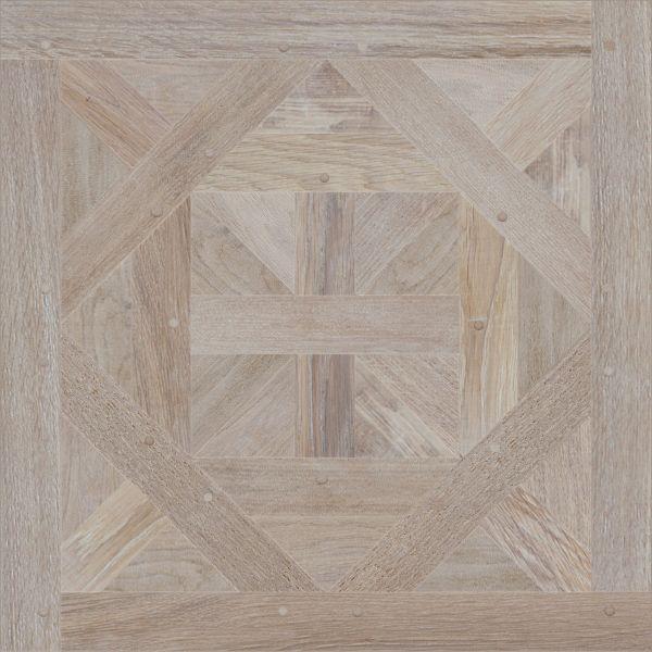Modular parquet Tempo (Oak, Bleached), Dimension: 780*780 mm, Species: oak, Finishing & treatment: wooden pins, worm holes, Grade of wood: Rustical.