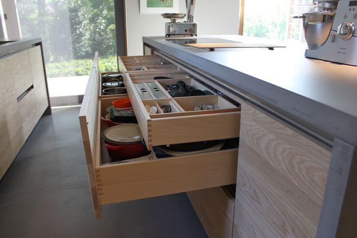 JP Walker houten keuken modern essen en beton - Product in beeld - Startpagina…