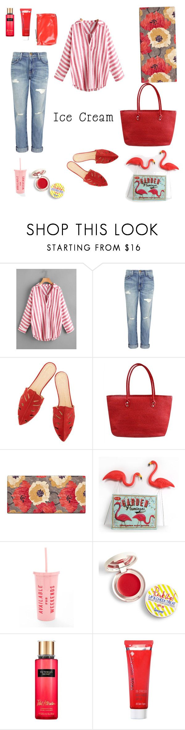 """Outfit Ice cream"" by celestegendra on Polyvore featuring moda, Current/Elliott, Improvements, Temerity Jones, ban.do, Supergoop!, Victoria's Secret y Marni"