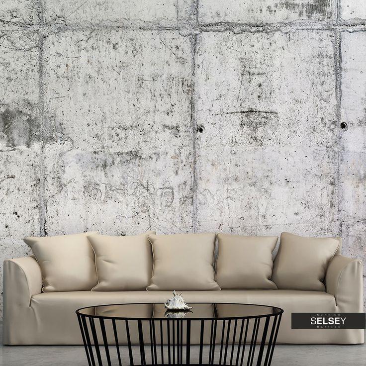 Die besten 25+ Betontapete Ideen auf Pinterest Tapeten beton - wohnzimmer tapeten ideen braun