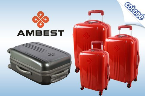 Travel with convenience using the multi-directional spinner wheels and various sizes of 3 bags in the Luggage Set from Ambest for AED 499 (Value AED 1000) – Available in red, black and grey!