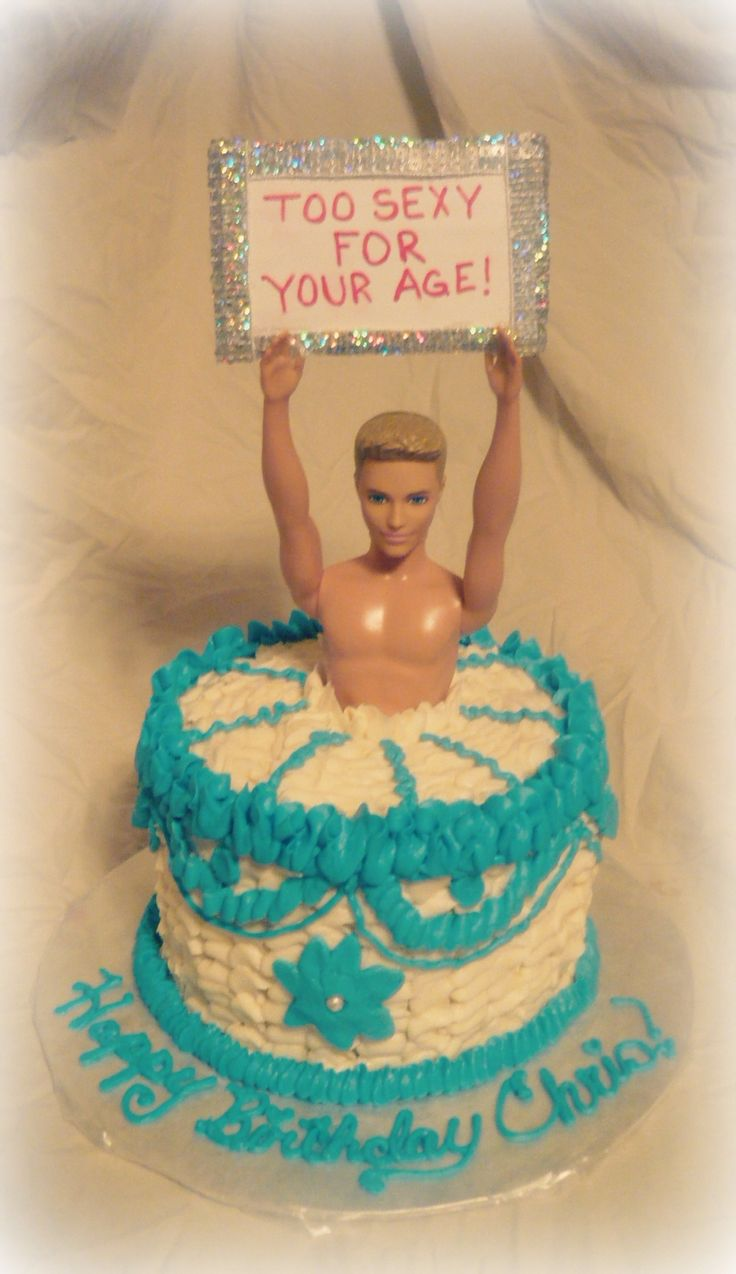 Male Stripper Cake.
