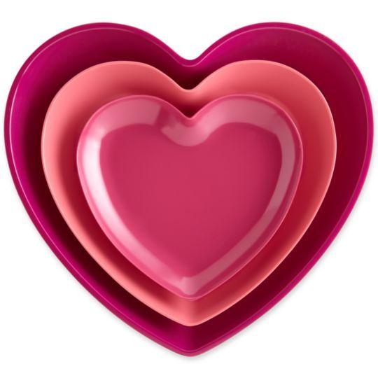 nesting trays: For The Home, Adler Katy, Happy Chic, Nests Trays, Heart Trays, Katy Sets, Valentine, Heart Nests, Jonathan Adler