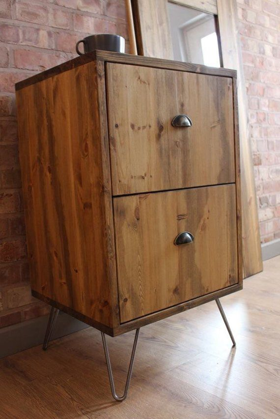 Rustic Industrial Style Office 2 Drawer Filing Cabinet With Etsy Industrial Style Office Cheap Office Furniture Filing Cabinet
