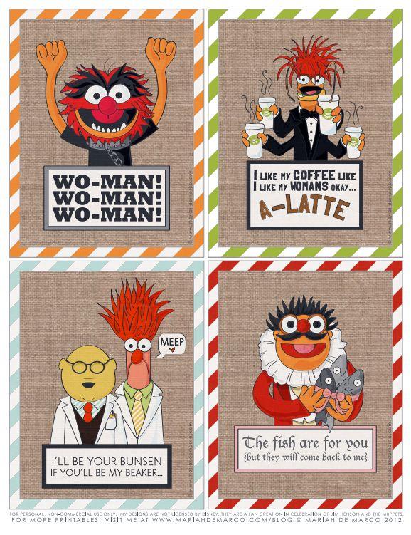 Brilliant FREE dEsigner Muppets Printables.