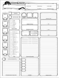 Image result for d&d character sheets 5th edition in 2019