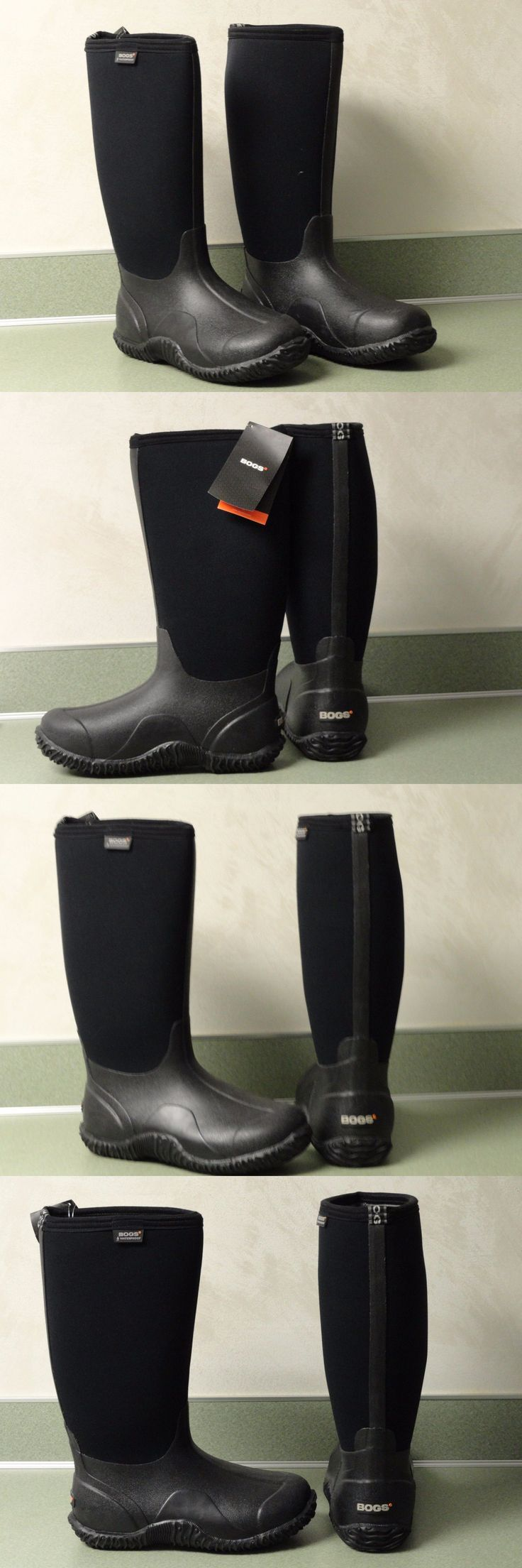 Women Boots: Womens Bogs Winter Boots Classic High Black Waterproof Insulated Size 8 BUY IT NOW ONLY: $89.99