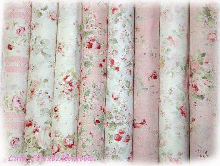 Durham Rose Shabby Chic Quilt Fabric