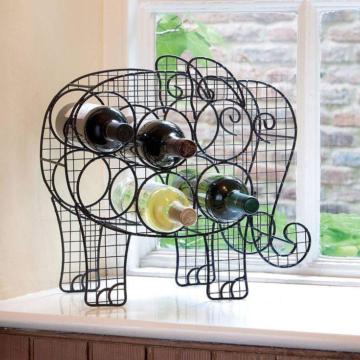 Elephant wine rack