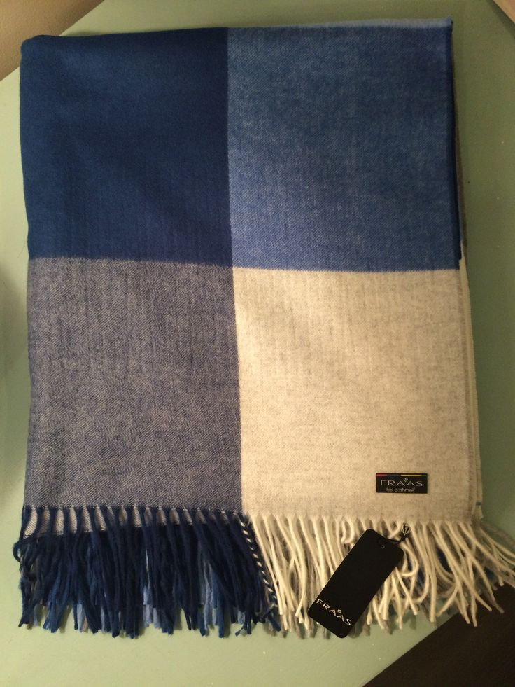 PURCHASED! Fraas Cashmink Throw in Blue Check #581 | The Art of Home $99.95 | 1 Requested | 1 Purchased