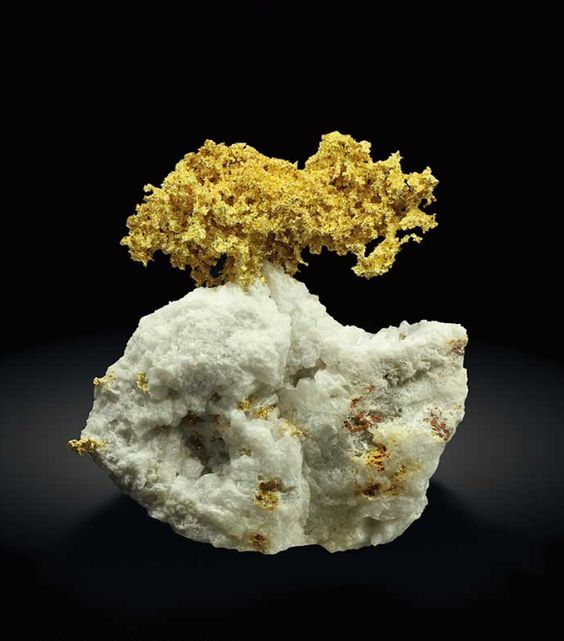 Native Gold - Brusson Mine, Allas Valley, Aosta Valley, Italy Size: 87 mm