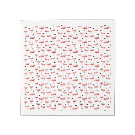 flamingo and hearts