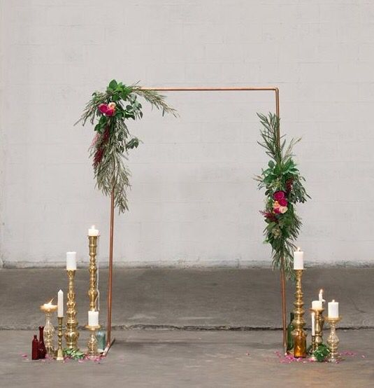 Wedding Altar Hire: Ceremony Arch, Copper