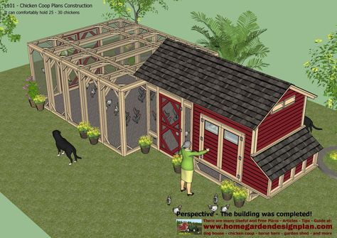 home garden plans: L101 - Chicken Coop Plans Construction - Chicken Coop Design - How To Build An Insulated Chicken Coop