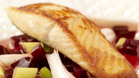 Want a healthy and tasty fresh food dish? Try SuperValu's Salmon Darne on a bed of Beetroot