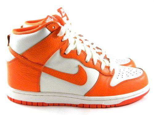 Nike Dunk High Sail White/Orange Summer Fashion Trainers Sneakers Men Shoes
