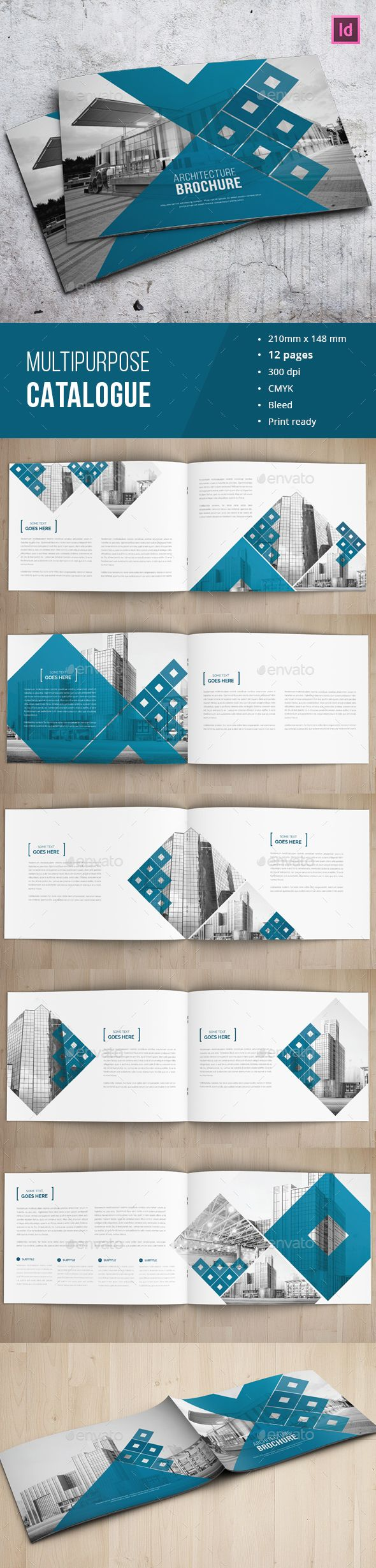 Architecture Business Brochure Template InDesign INDD. Download here: http://graphicriver.net/item/architecture-business-brochure/15023233?ref=ksioks
