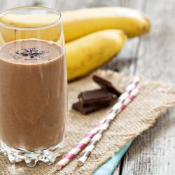 Funky Monkey (Chocolate Banana) Smoothie (Serves 1) WWPP=3 #breakfast #snack