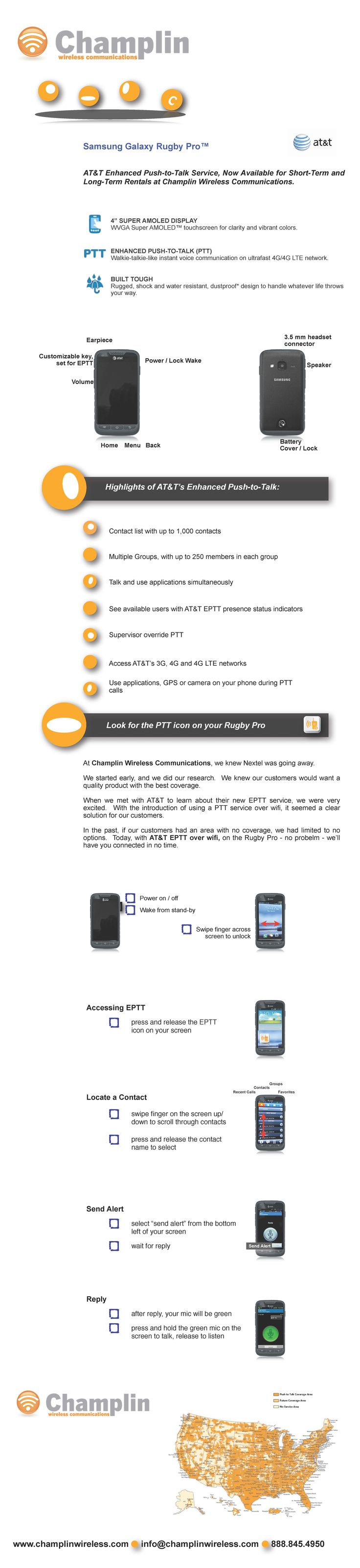 #AT EPTT available for #Rent from Champlin #Wireless. | AT&T Enhanced Push-to-Talk