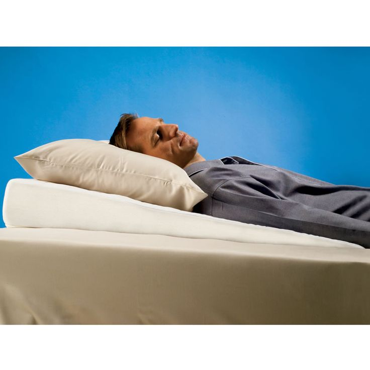 The Sleep Improving Pillow Wedge - This gently sloped pillow provides a subtle incline that raises the upper body for relief from the symptoms of heartburn, sinus congestion, and snoring.