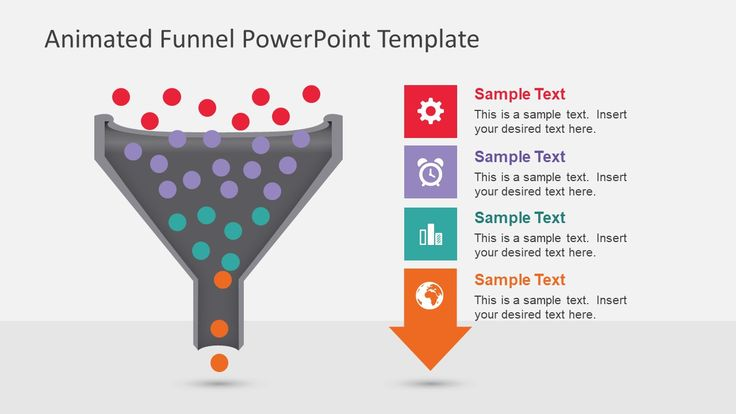 innovation process funnel diagram for powerpoint | data flow, Modern powerpoint