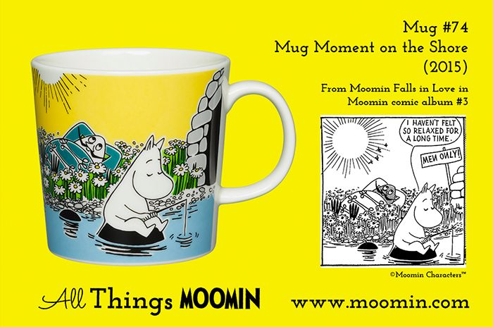 Mug #74 Moomin mug Moment on the Shore2