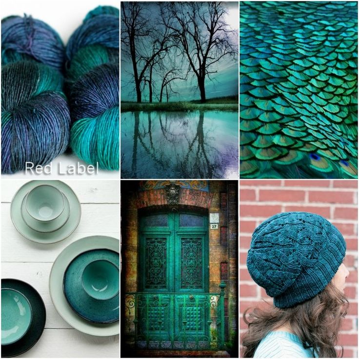 TFA Red Label in Teal, trees, feathers, cups, door, Windward hat pattern.