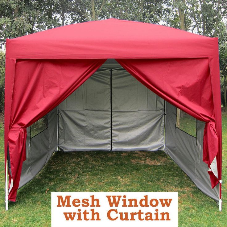 Quictent Privacy 8'x8' Red EZ Pop Up Party Tent Canopy Gazebo Screen Curtain 100% Waterproof ** Be sure to check out this awesome item.