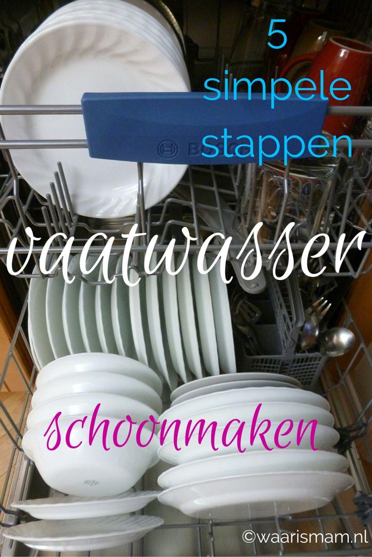 In 5 simpele stappen je #vaatwasser weer fris en #schimmelvrij. #waarismam