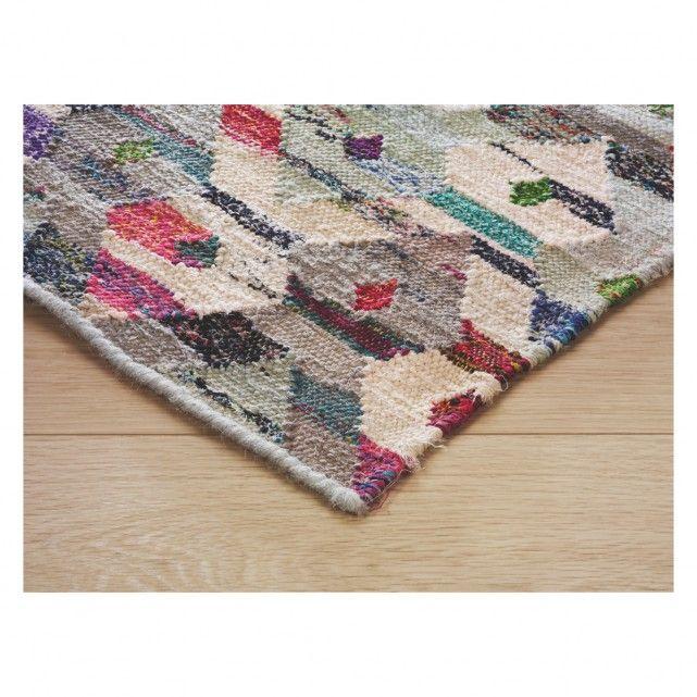 TRIGAS Large multi-coloured flat weave rug 170 x 240cm | Buy now at Habitat UK
