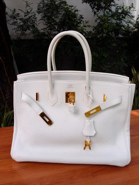 White Hermes Birkin  one day my love one day.