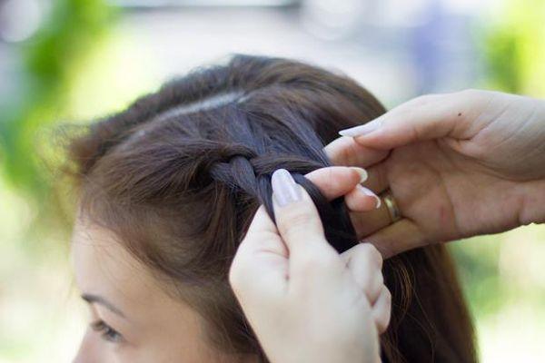 Причёска корзинка