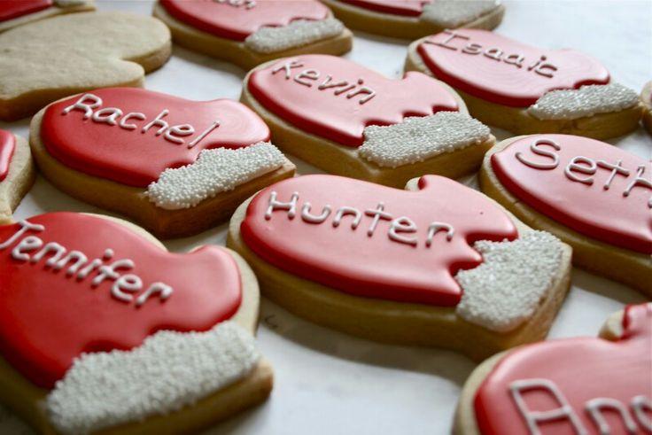 Cookies personalized | Christmas Treats for Around Town | Pinterest